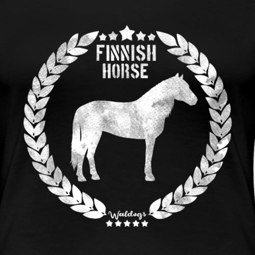 Finnish Horse Army Grey - Naisten premium t-paita