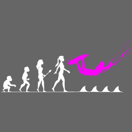 Die Evolution zur Kitesurferin - Frauen Premium T-Shirt
