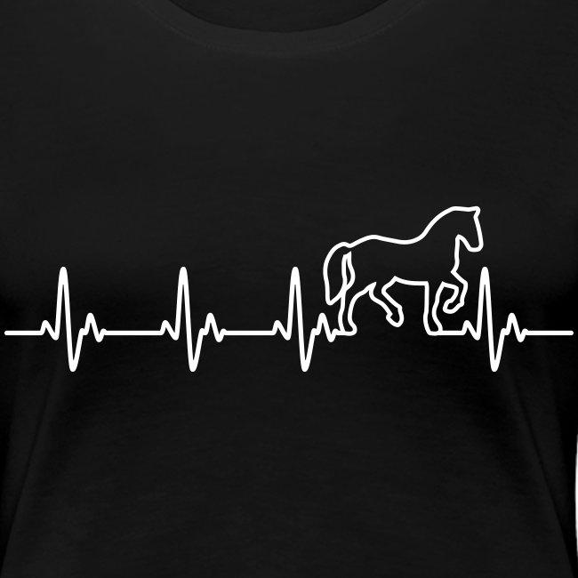 Vorschau: Horse Heartbeat - Frauen Premium T-Shirt