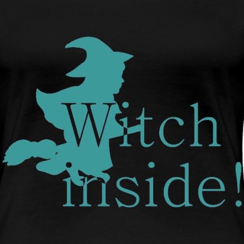 GIF Witch blau - Frauen Premium T-Shirt