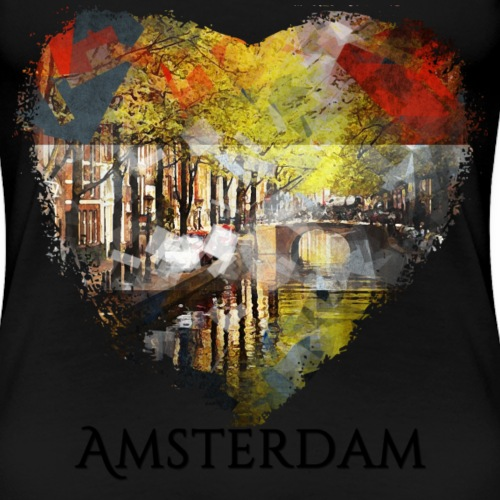 My heART beats for Amsterdam - Frauen Premium T-Shirt