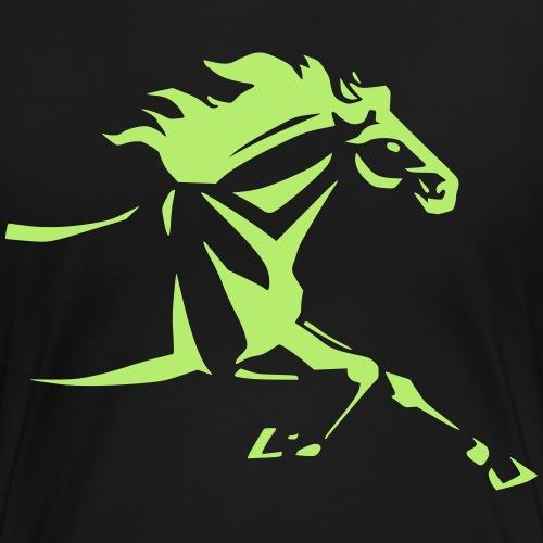 Tribal Horse running by JaanasArtwork - Women's Premium T-Shirt