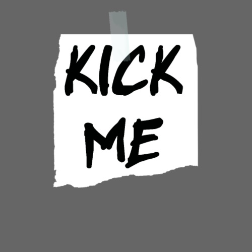 Kick Me Note Back - Women's Premium T-Shirt