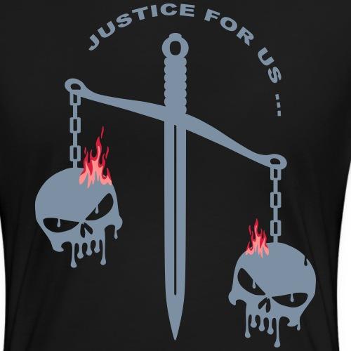 justice skull fire - T-shirt Premium Femme