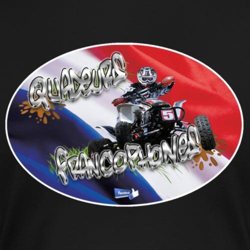 Logo Français cross drapeau oblique - T-shirt Premium Femme