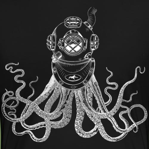 Kraken in Taucherhelm - Frauen Premium T-Shirt
