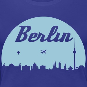 Berlin skyline - Premium T-skjorte for kvinner