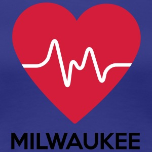 heart Milwaukee - Women's Premium T-Shirt