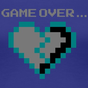 Game Over. Broken Pixel Heart lovelorn - Women's Premium T-Shirt