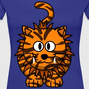 Cat with whiskers and teeth natural - Women's Premium T-Shirt