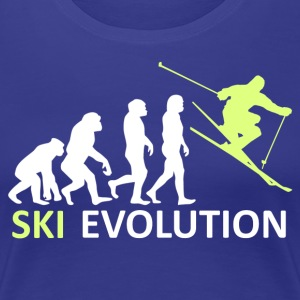 ++ ++ Ski Evolution - Premium T-skjorte for kvinner