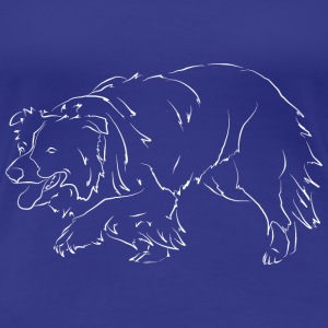 Border Collie - Premium-T-shirt dam
