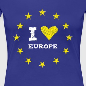 I Love europe Star Heart Stick eu no Proposed referendum on United Kingdom membership of the European Union circle l - Women's Premium T-Shirt