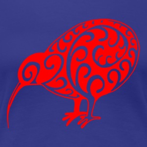 New Zealand: Kiwi i rødt - Dame premium T-shirt