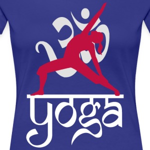 Yoga OM Reverse Warrior Pose - Premium T-skjorte for kvinner