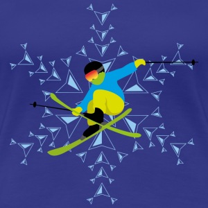 ski freestyle hell - Frauen Premium T-Shirt