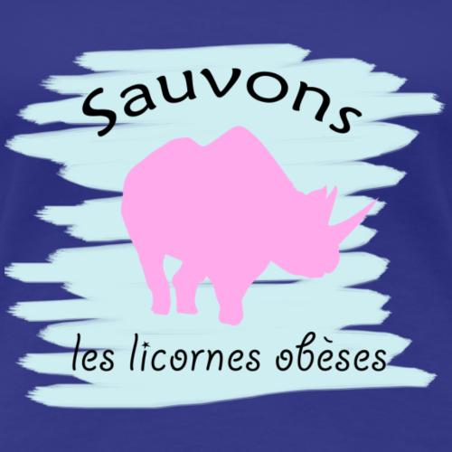 Sauvons les rhinocéros licornes ! - T-shirt Premium Femme
