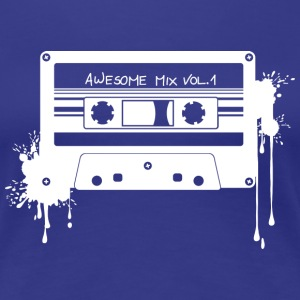 RETRO CASSETTE in white - Women's Premium T-Shirt