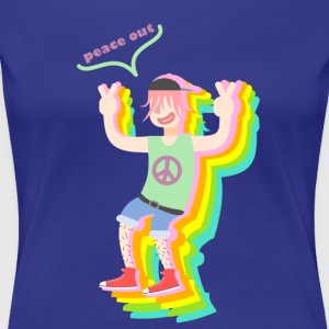 peace out guy - Vrouwen Premium T-shirt