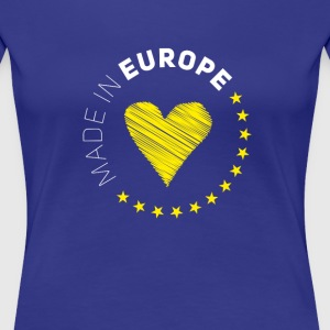 made in Europe love EU europa no brexit euro stern - Frauen Premium T-Shirt