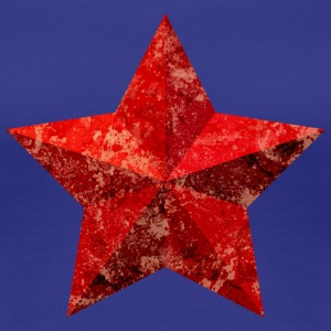 Red Star Red Star jul grunge flagga - Premium-T-shirt dam