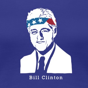 President Bill Clinton American Patriot Vintage - Women's Premium T-Shirt