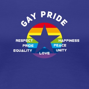 gay_star Fierté astérisque amour Respect fier cs - T-shirt Premium Femme