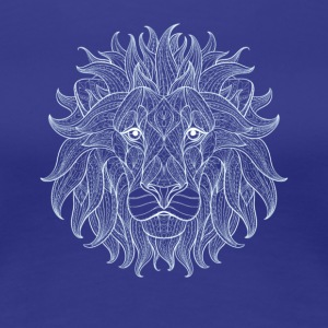 Lion White Lion King Outline Mandala Pattern Hode - Premium T-skjorte for kvinner