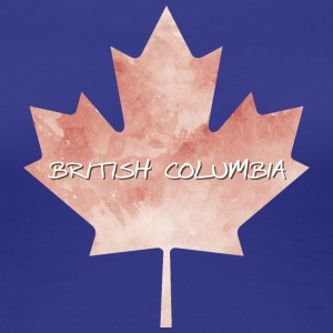 British Columbia Maple Leaf - Vrouwen Premium T-shirt