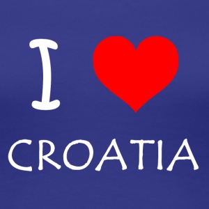 I Love Croatia - Premium T-skjorte for kvinner