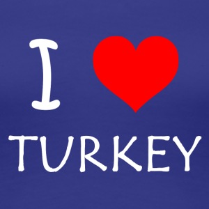 I Love Turkey - Dame premium T-shirt