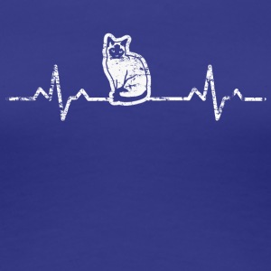 My heart beats for cats - Women's Premium T-Shirt