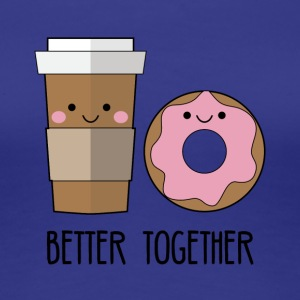 Beste Freunde: Better together - Coffe and Donut - Frauen Premium T-Shirt
