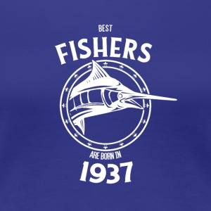 Present for fishers born in 1937 - Women's Premium T-Shirt