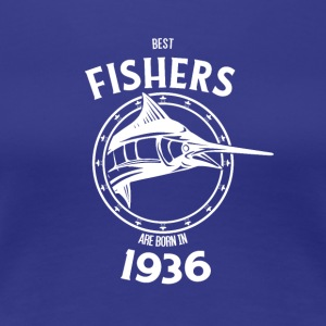 Present for fishers born in 1936 - Women's Premium T-Shirt