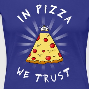 Pizza All Seeing Eye Illuminati Funny Food auge ma - Frauen Premium T-Shirt