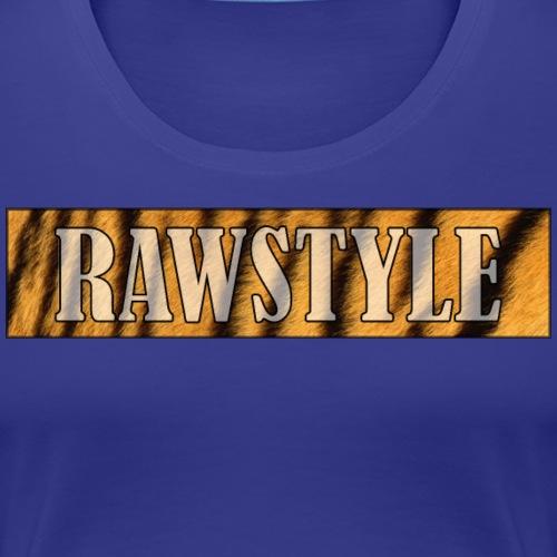 Tiger Raw - White lettering - Vrouwen Premium T-shirt