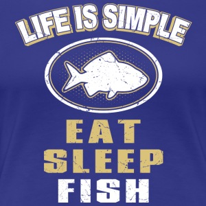 Eat Sleep Fish - Premium T-skjorte for kvinner