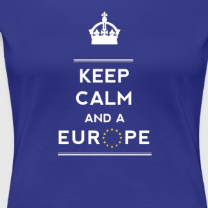 keep calm and Love Europa eu Europastar moro demo - Premium T-skjorte for kvinner