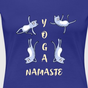 chat yoga méditation mignon namaste lotus LOL h - T-shirt Premium Femme
