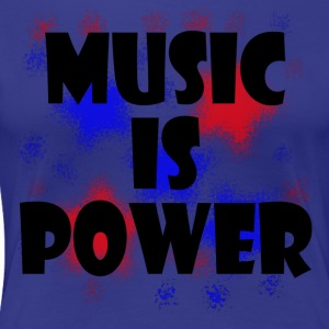 Music is Power red blue - Women's Premium T-Shirt
