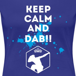 dab dabbing keepcalm touchdown football fun cool l - Women's Premium T-Shirt