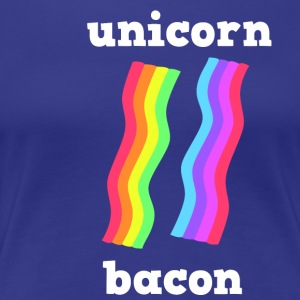 UNICORN BACON STRIPS - Frauen Premium T-Shirt