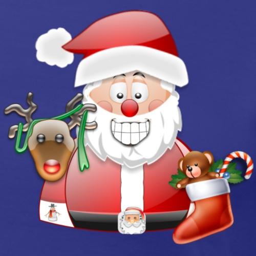 Father Christmas and raindeer boot present Teddy - Women's Premium T-Shirt
