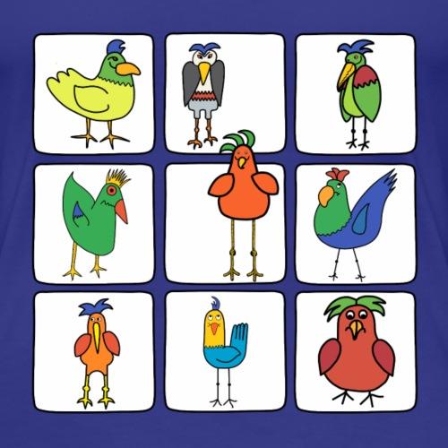 all the birds - Women's Premium T-Shirt