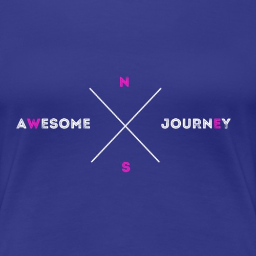 Awesome Journey T-shirt (WHITE / PINK EDITION) - Vrouwen Premium T-shirt