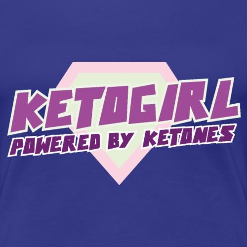 Keto Girl Frau Diät Ketoshirt Ketogen - Frauen Premium T-Shirt