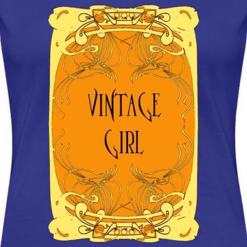 vintage girl, art nouveau style poster - Women's Premium T-Shirt