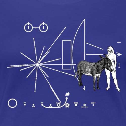 Pioneer Donkey Plate - Women's Premium T-Shirt