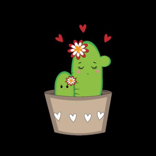 Kaktus Mama mit Kaktus Baby
